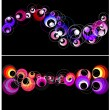 Colorful circles horizontal banner. — Stock Vector