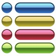 Color plastic buttons for web design. — Stock Vector