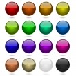 Color balls set isolated on white. — Stock Vector