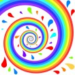 Stock Vector: Colorful rainbow spiral.