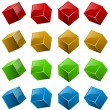 Color shiny 3D cubes — Stock Vector #12140591