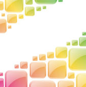 Colorful glossy squares abstract vector background. — Wektor stockowy