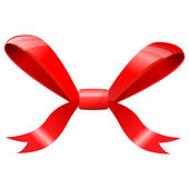 Red bow isolated on white. — Stock Vector