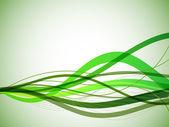 Horizontal green wavy stripes background. — Stock Vector