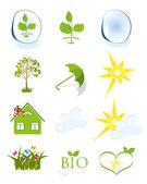 Weather and ecology symbols — Stock Vector