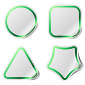 Blank stickers with green frame. — Stock Vector