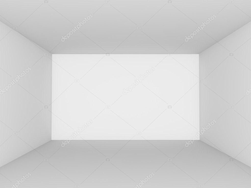 Empty White Room Perspective View Stock Photo Lenapix