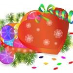 Christmas composition — Stock Vector