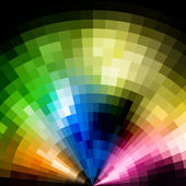 Abstract radial colorful mosaic background. — Stock Vector
