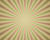 Vintage red and green rays background. — Stock Vector