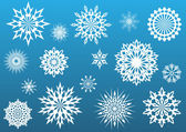 Snowflake vector shapes set. — Stock Vector