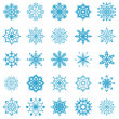 Snowflakes vector collection isolated on white. — Stock Vector #12399186
