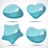 Illustrazione vettoriale di bolle astratto discorso lucido. — Vettoriale Stock