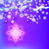 Abstract winter vector background with snowflakes. — Stock Vector
