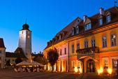 Sibiu - visão noturna — Fotografia Stock