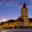 Brasov Council Square at twilight - Transylvania, Romania — Stock Photo #12324545