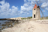 Windmill by the sea in Trapani, Sicily — Stock Photo