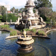 Fountain in Ajuda Botanical Garden, Lisbon, Portugal - Stock Photo