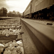 Sepia rail — Stock Photo