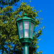 Stock Photo: Green Lamppost