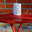 Red table — Foto Stock