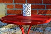 Red table — Foto de Stock