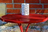 Rode tabel — Stockfoto