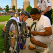 Bike cops — Stockfoto