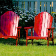 Red chairs — Photo