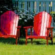 Red chairs — Foto Stock