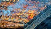 Ribben op de grill — Stockfoto