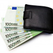 Wallet with euros — Stock Photo