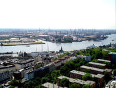 Panorama of Hamburg — Stock Photo