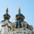 Stock Photo: Two orthodox domes