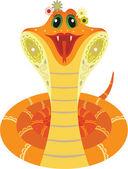 Smiled orange snake — Stock Photo