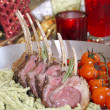 Stock Photo: Roasted lamb