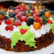 Christmas cake — Stock Photo