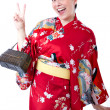 Tourist with oriental kimono — Stock Photo #11042439