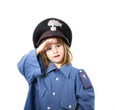 Children in military carabiniere uniform — Stock Photo