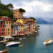 Genoa Portofino tilt shift — Stock Photo