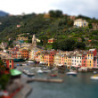 Portofino tilt shift — Stock Photo