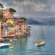 Stock Photo: Portofino lux yacht port genohdr