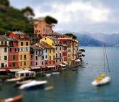 Genoa Portofino tilt shift — Stock Photo