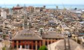 Cidade velha de Génova tilt-shift — Fotografia Stock