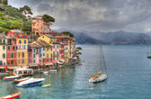 Portofino lux yacht port genoa hdr — Stock Photo