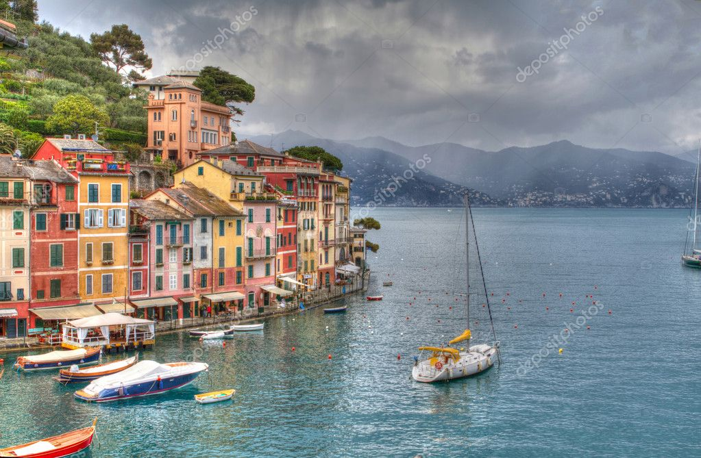 Portofino lux yacht port genoa hdr, italy  Stock Photo #11150151
