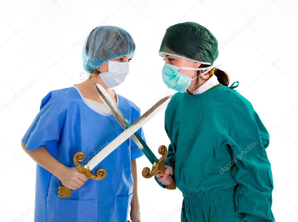 Couple of doctor medical competition  Stock Photo #11226021