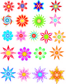 Colored Flowers 1 — Stock Vector