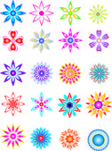 Flores de color 2 — Vector de stock