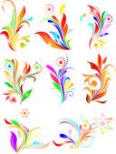 Colored fluorish — Stock Vector